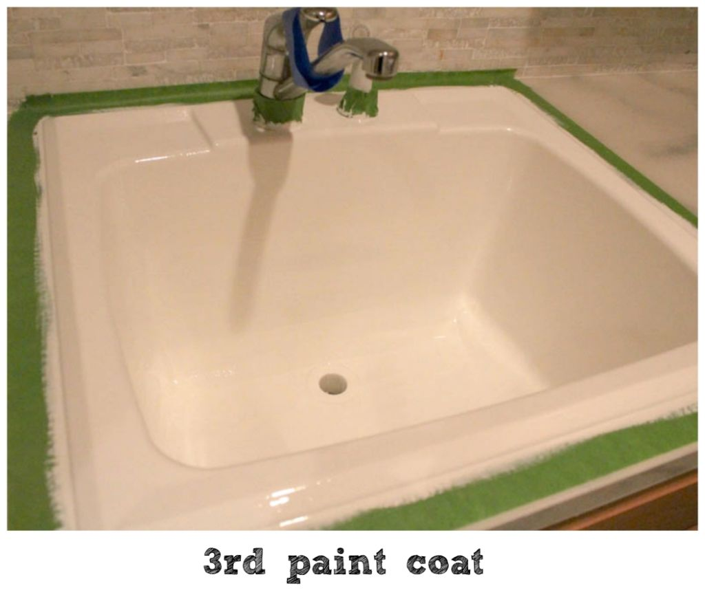 painting a sink