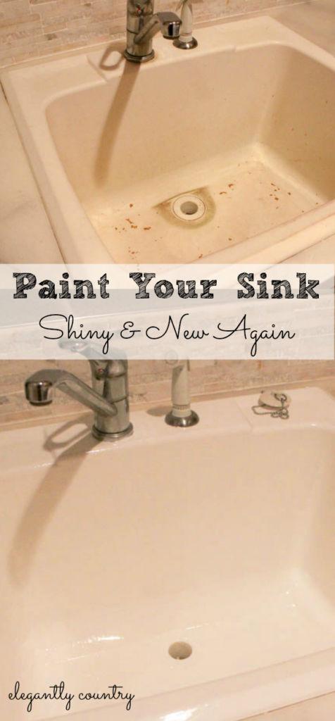 Paint a sink