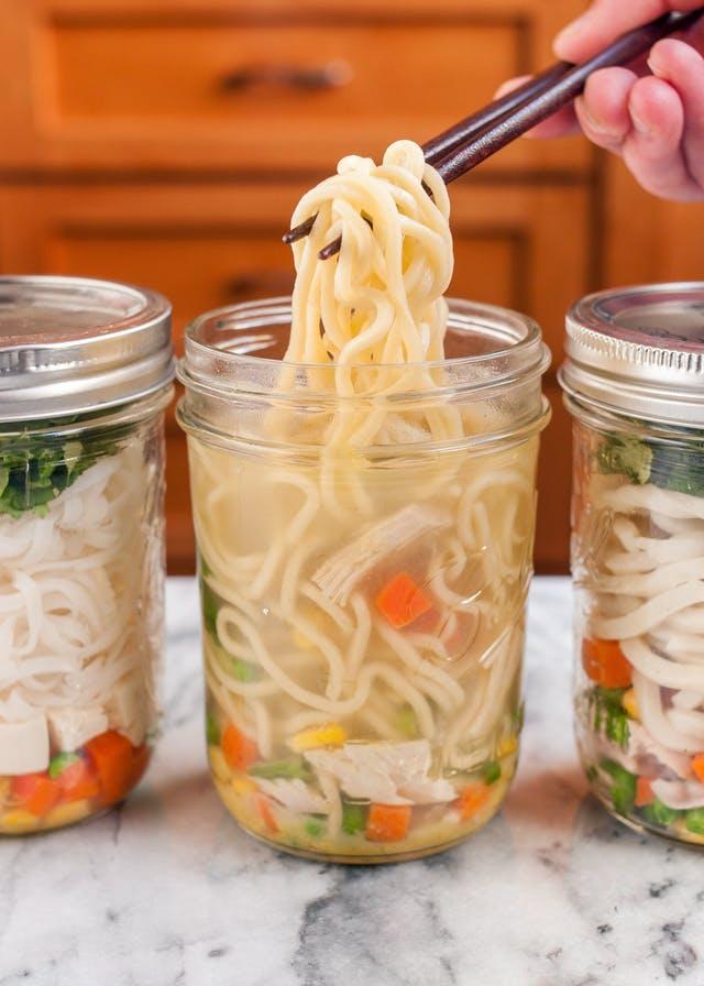 camping noodle soup