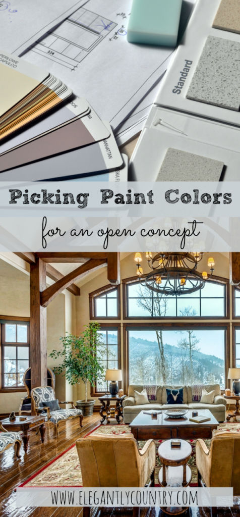 painting an open concept room