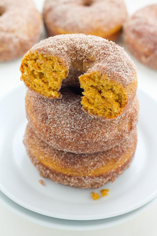 vegan pumpkin sugar doughnuts