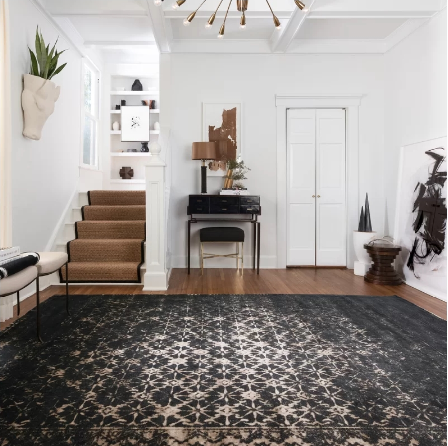 joanna gaines black rug