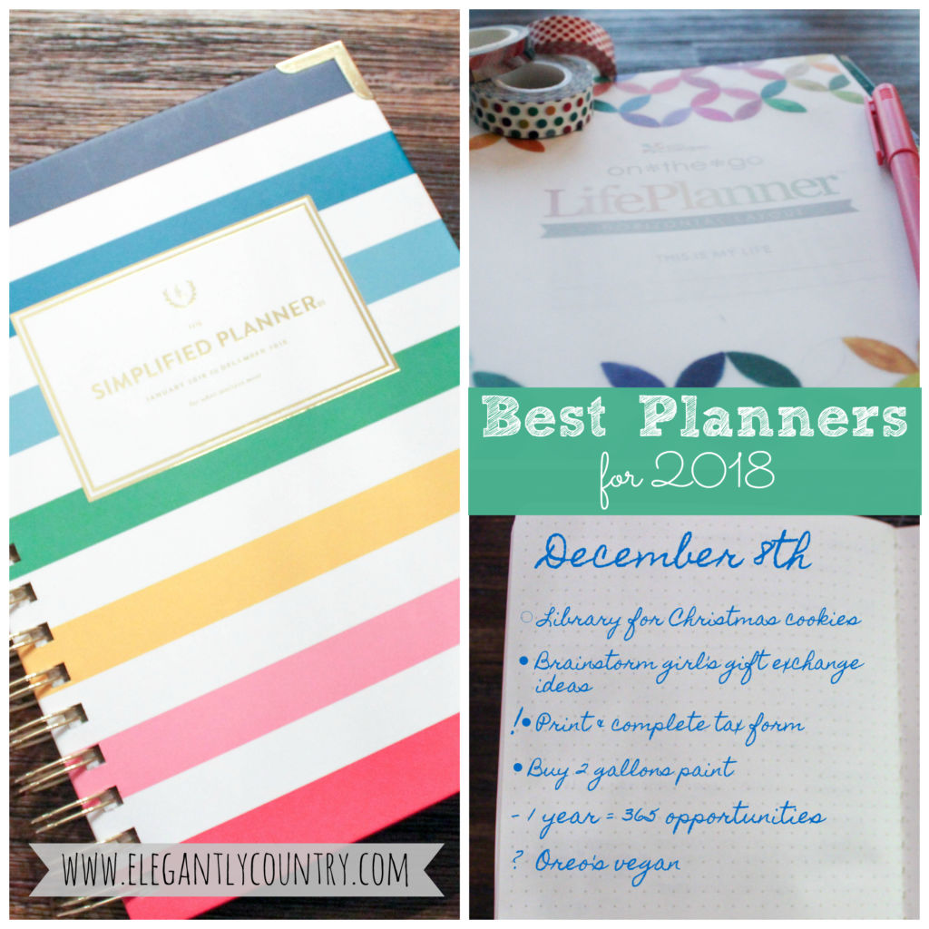 the best planners for 2018