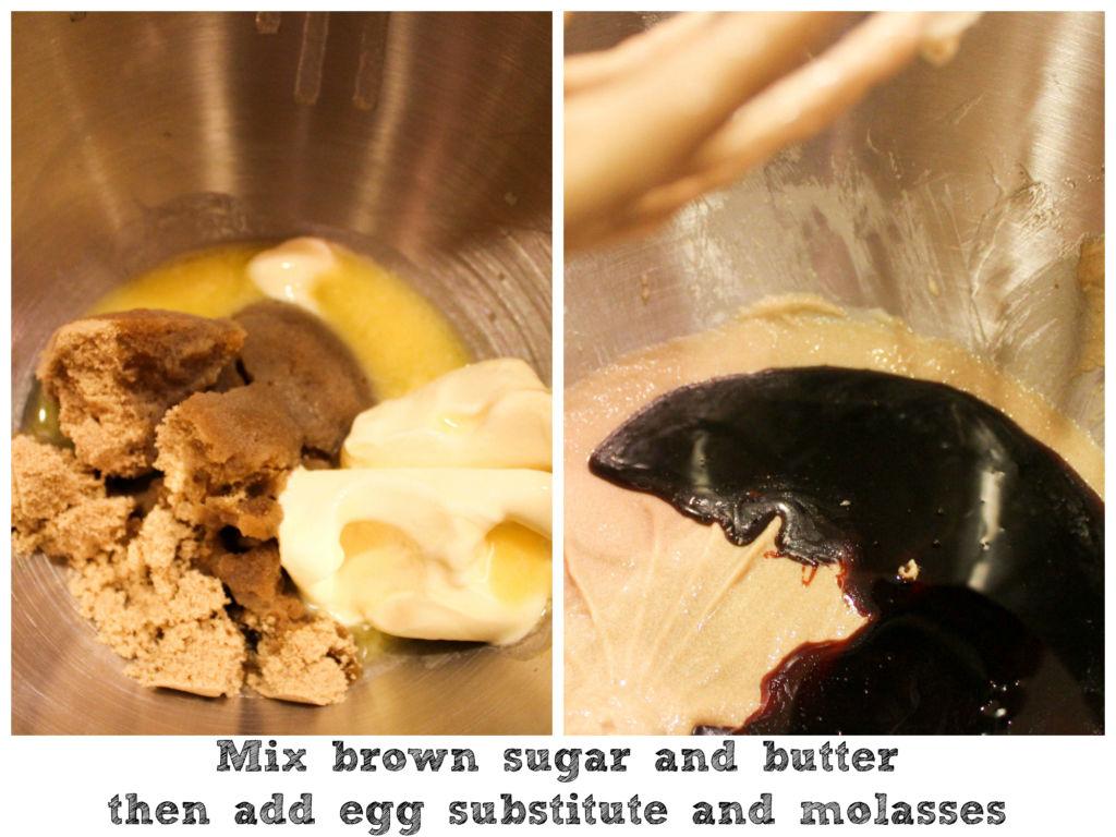 vegan chewy ginger molasses cookies