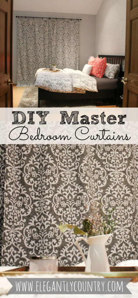 diy master bedroom curtains