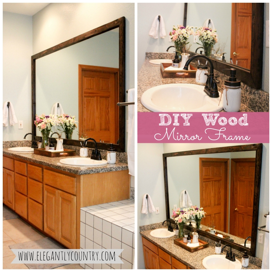 diy wood mirror frame