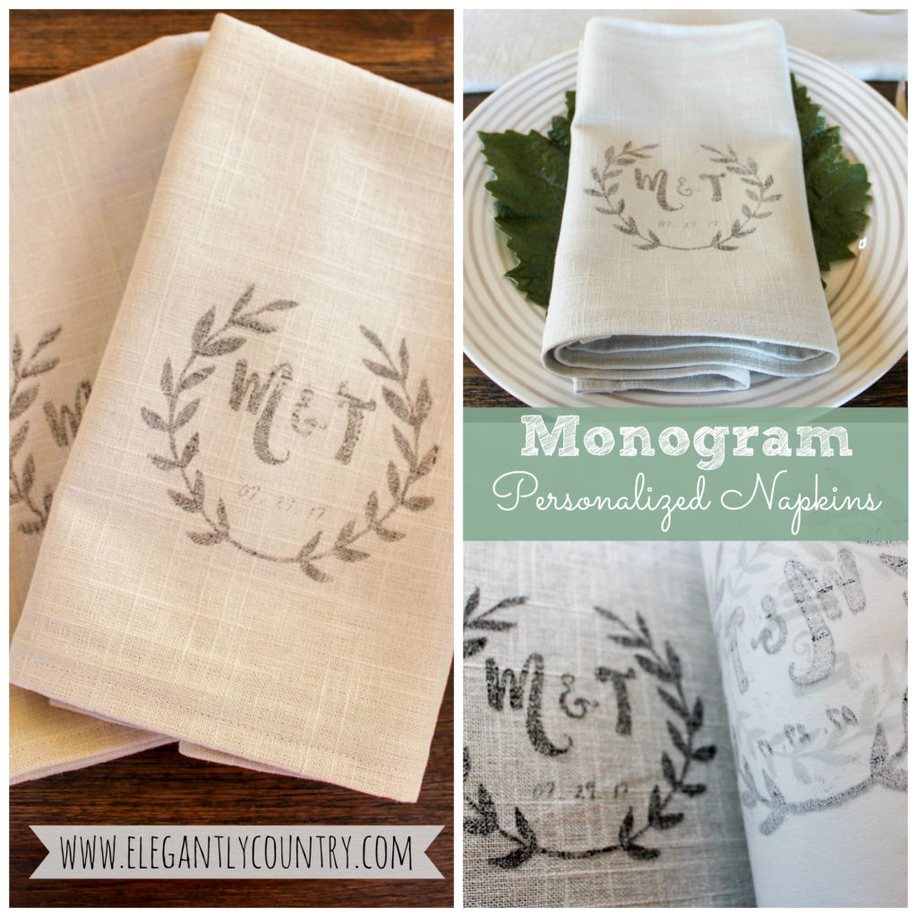 How To Make Diy Monogram Napkins
