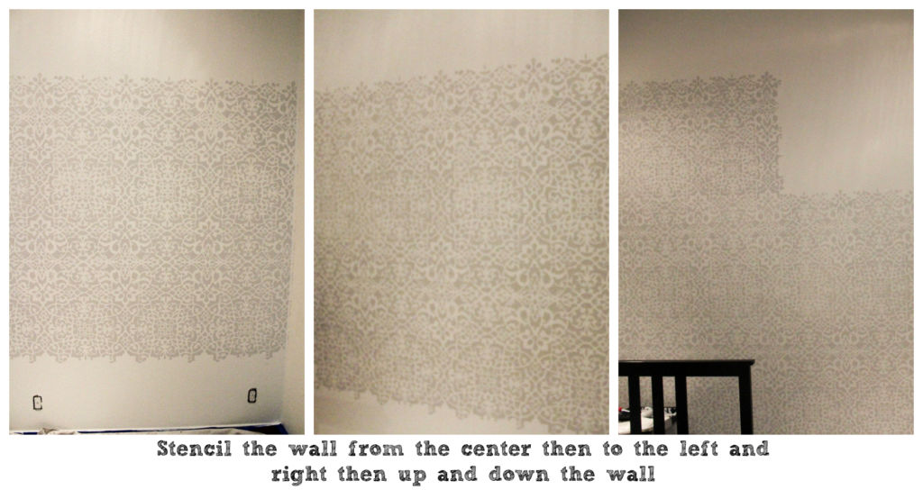 master bedroom accent wall stencil