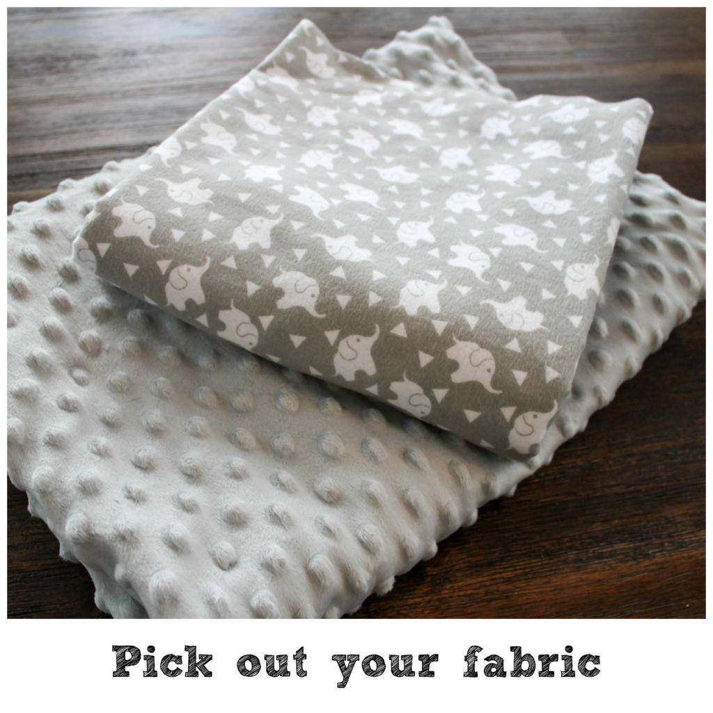 minky baby blanket DIY