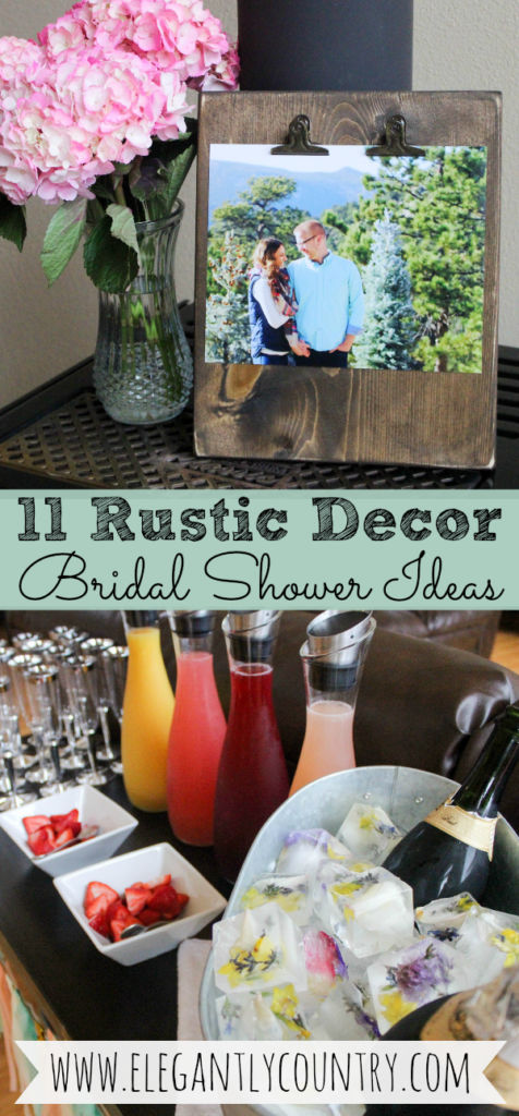 rustic bridal shower ideas and decorations