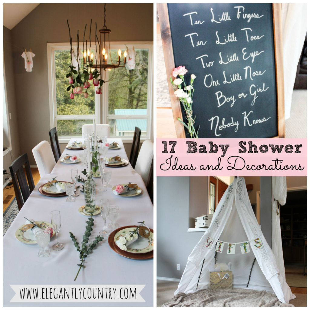 rustic baby shower ideas and decorations