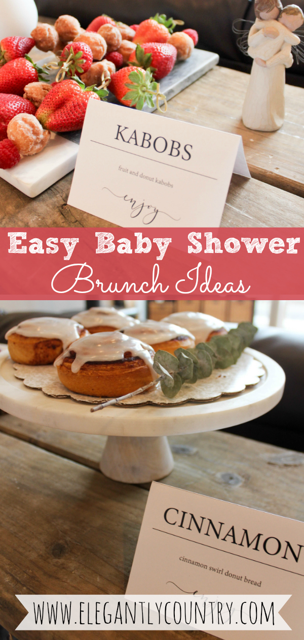 baby shower brunch and food ideas
