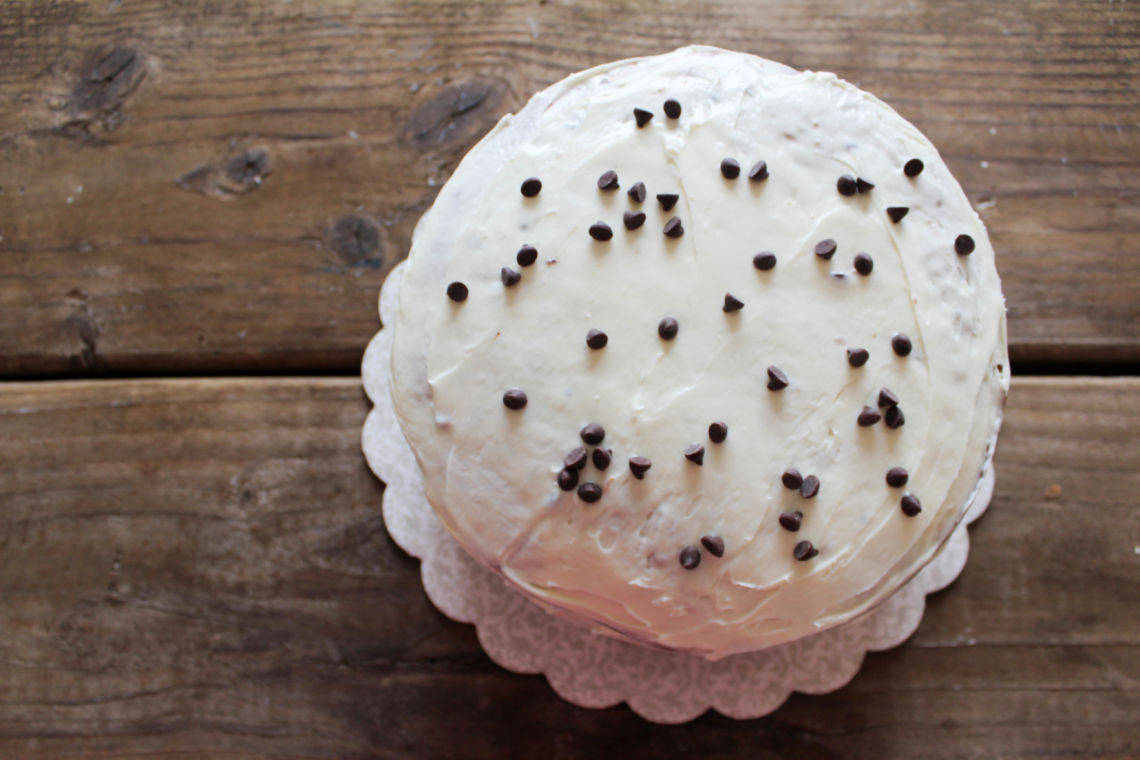3 layer vegan cookie cake