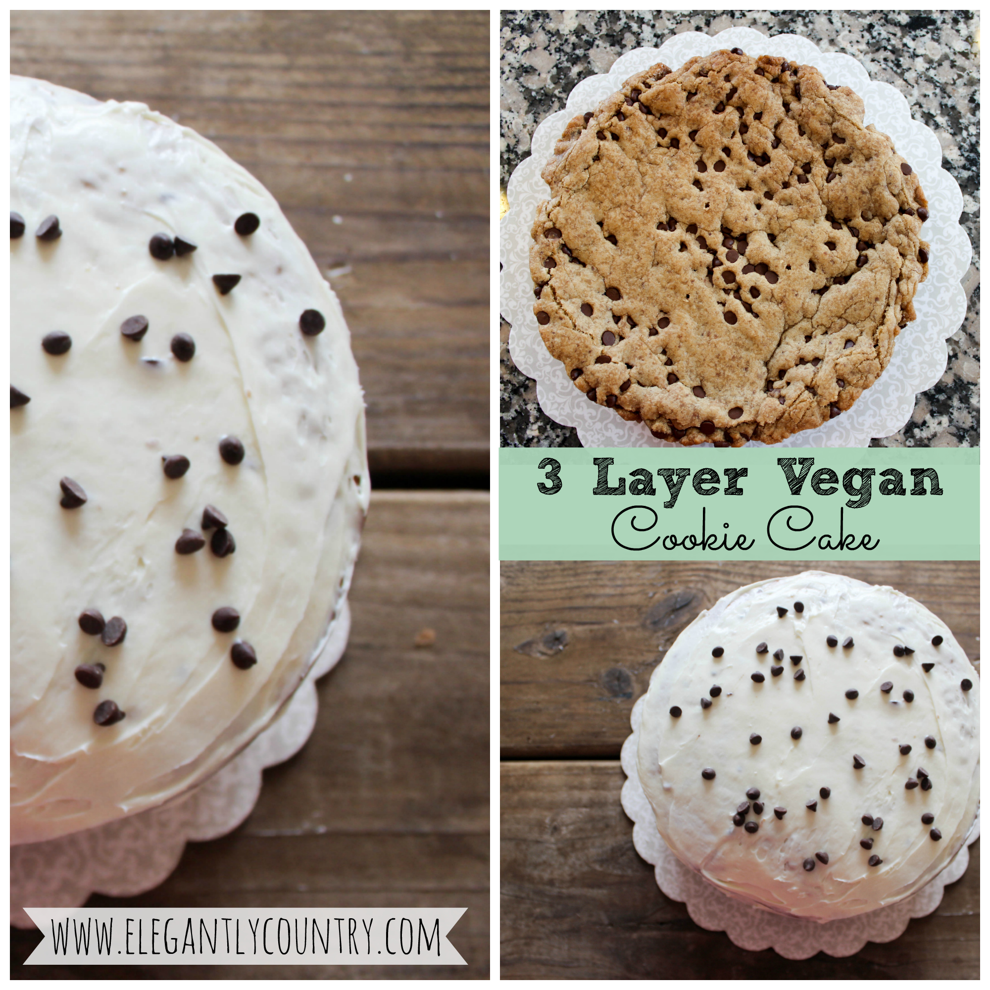 3 layer vegan cookie cake